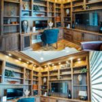 walnut office & den, built-in bookcases, wallunit, custom woodwork