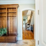 walnut entry mud closet